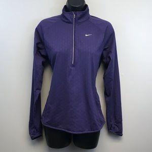 Nike   Purple Dri-Fit 1/4 Zip pullover sweatshirt